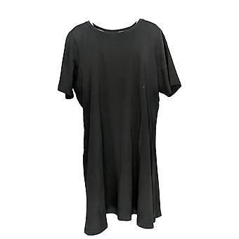 Isaac Mizrahi Live! Petite Dress Essentials Elbow- Sleeve Black A351508