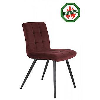 Light & Living Dining Chair 57x49x84cm Olive Fr Velvet Burgundy
