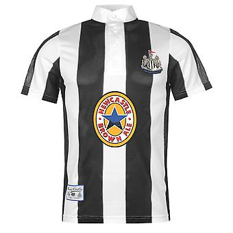 Score Draw Mens Newcastle United 1996 Home Shirt Retro Short Sleeve Round Neck