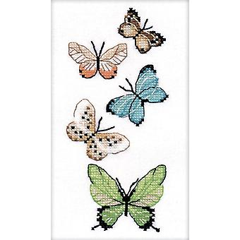 Oven Cross Stitch Kit on Water Soluble Canvas - Butterflies