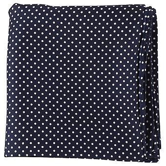 Michelsons of London Pin Dot Handkerchief - Navy/White