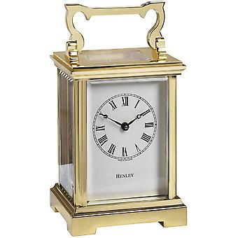 Henley Anglaise English Carriage Clock - Gold