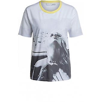 Oui Schrift Design T-Shirt
