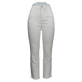Denim & Co. Damen's Petite Jeans Classic Denim Weiß A304477 #1