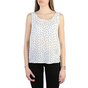Woman sleeveless round neckline top aj51095