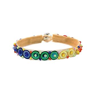 Sequin Rainbow Glass and Bead Bracelet