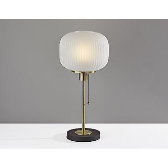"10"" X 10"" X 22"" Antiek Messing Glas/Metalen Tafellamp"