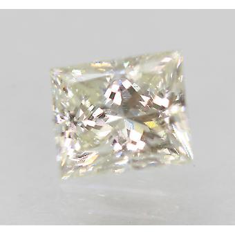 Certified 0.80 Carat I VVS2 Princess Enhanced Natural Diamond 5.49x4.67mm 2VG