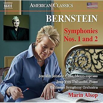 Bernstein / Thibaudet / Cano / Alsop - Leonard Bernstein: Symphonies 1 & 2 [CD] USA import