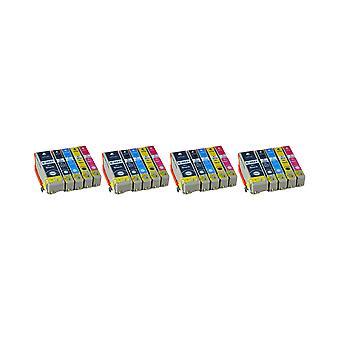 RudyTwos 4 x ersättning för Epson PolarBear ställa in bläck svart Cyan Magenta gul & foto svart kompatibel med Expression Premium XP-510, XP-520, XP-600, XP-605, XP-610, XP-615, XP-620, XP-625, XP-7