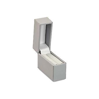 Grå Soft Touch Postal Ring Box