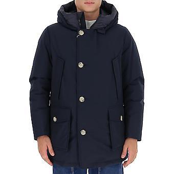 Woolrich Woou0271mrut0108mlb Men's Blue Nylon Outerwear Jacket