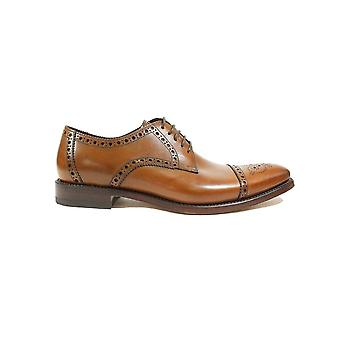 Loake Foley Cedar Burnished Calf Leather Mens Derby Shoes