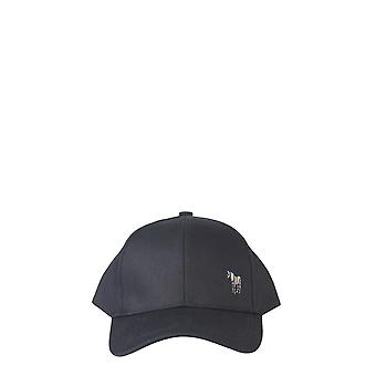 Ps Door Paul Smith M2a987cazebra79 Men's Black Cotton Hat