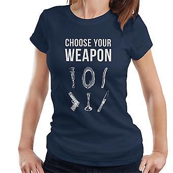 Hasbro Cluedo Choisissez votre arme Femmes-apos;s T-shirt