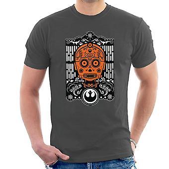 Star Wars Calavera C3PO Men's Camiseta