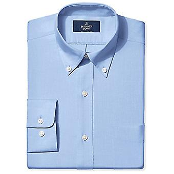 BUTTONED DOWN Men's Classic Fit Button-Collar Non-Iron Dress Shirt (Pocket), ...