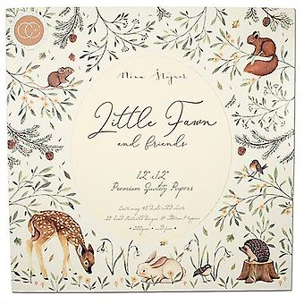 Craft Consortium Little Fawn & Friends 12x12 Inch Paper Pad