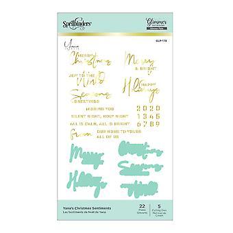 Yana&s Boże Narodzenie Uczucia Glimmer Hot Foil Talerze & Matryce (GLP-179)