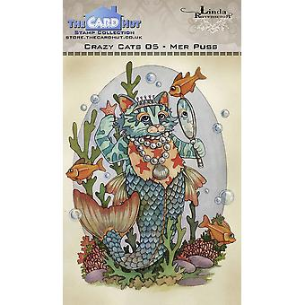 The Card Hut Crazy Cats Mer Puss Clear Stamps