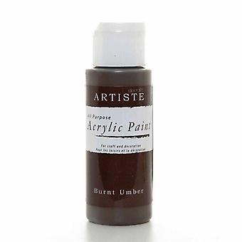 Peinture acrylique Docrafts (2oz) - Burnt Umber (DOO 763251)