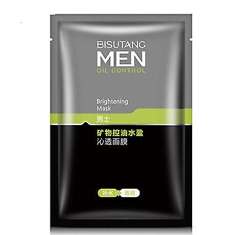 Mineral Oil Control Men Mask Skin Care Oil Control Clean Shrink Pores Moisturizing Products Face Mask