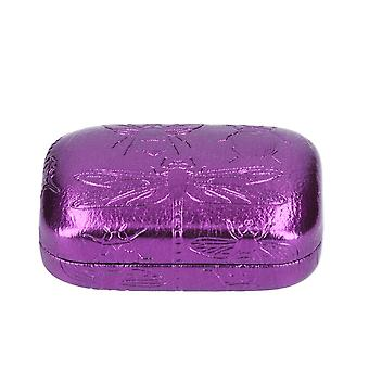 Purple Metallic Insect Embossed Small Trinket Box - Cracker Filler Gift