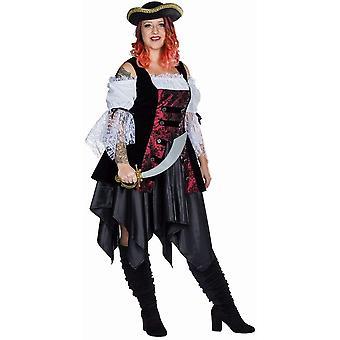 Pirata Full Cut traje de mujer pirata Carnaval vestido Capitán