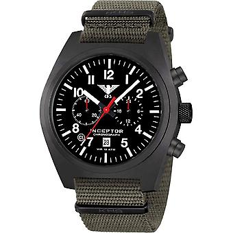 KHS - Men's Watch - Inceptor Black Steel Chrono Nato band - KHS. INCBSC. NSGO
