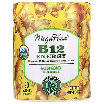 MegaFood, B12 Energy, Ginger, 90 Gummies