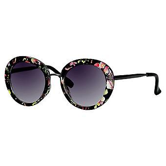 Sunglasses Women's Black with Pink Flower (ml6620)