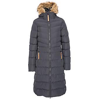 التعدي على النساء أودري مبطن أطول طول معطف سترة