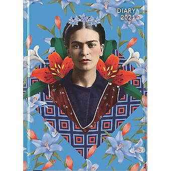 Frida Kahlo  Blue Pocket Diary 2021 by Created by Flame Tree Studio