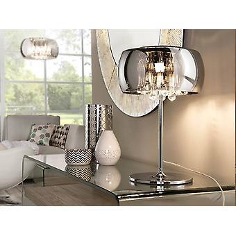 3 Lampada da tavolo di cristallo chiaro Chrome, Specchio, G9