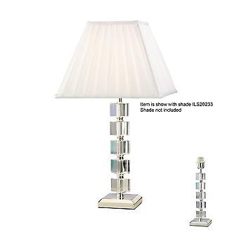 Inspired Diyas - Alina - Crystal Table Lamp (SHADE SOLD SEPARATELY) 1 Light Silver