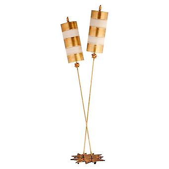 Elstead Brændenælde Luxe - 2 Light Floor Lamp Gold, Taupe, E27