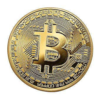 Gold-colored Bitcoin lucky peng