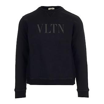 Valentino Uv0mf10g6yglt7 Männer's schwarze Baumwolle Sweatshirt