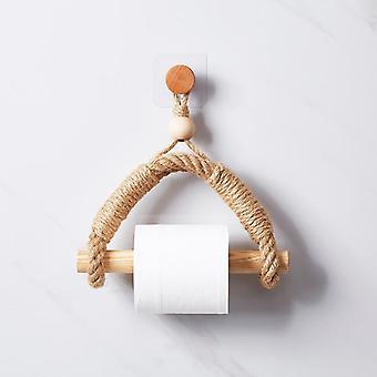 Vintage håndkle hengende tau, toalettpapir holder for hjem hotel bad