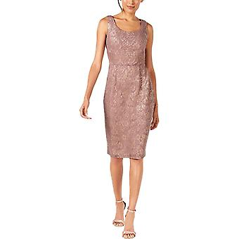 Ivanka Trump | Metallic Lace Sheath Dress