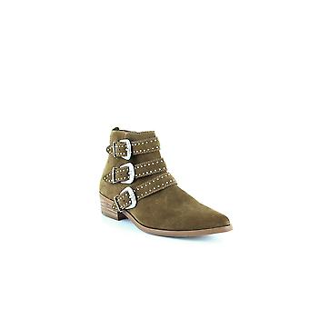 Aqua | Blane Studded Buckle Booties