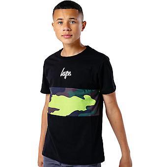 Hype Kids Neon Camo T-Shirt Preto 93