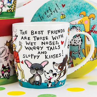 Crazy Dog Lady Porcelain Mug in a Colourful Gift Box by Rachel Ellen