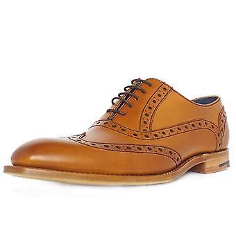 Barker Grant Men's Smart Wingtip Brogue Shoes In Cedar