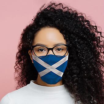 Schotland (Schotse) vlag herbruikbare gezichtsbedekking - Large X 1 Pack