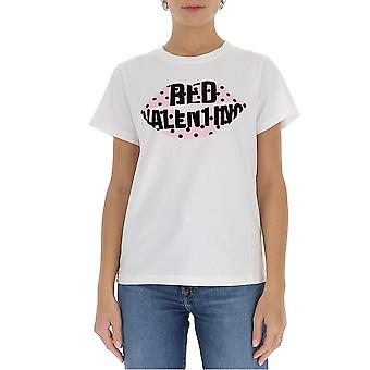 Red Valentino Ur0mg07y5jl001 Women's White Cotton T-shirt