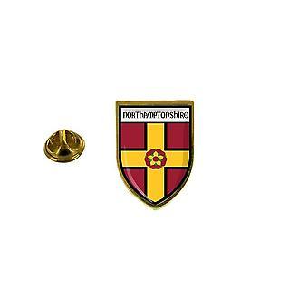 pins pin badge pin's souvenir ville drapeau pays blason northamptonshire