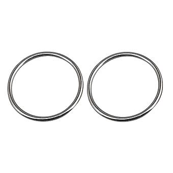 2 Pieces Stainless Steel Heavy Duty Round Ring for Hammock Dia 3.14 Inch