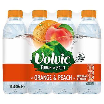 Volvic Orange & Peach 500ml x12