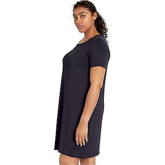 Merkki - Daily Ritual Women's Jersey Lyhythihainen Scoop Neck T-paita Mekko, Tummansininen, Pieni
